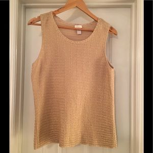 🌿Chico's Cotton Tank Gold and Tan L